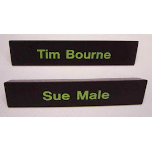Solid wood toblerone desk top sign - DTM20045B