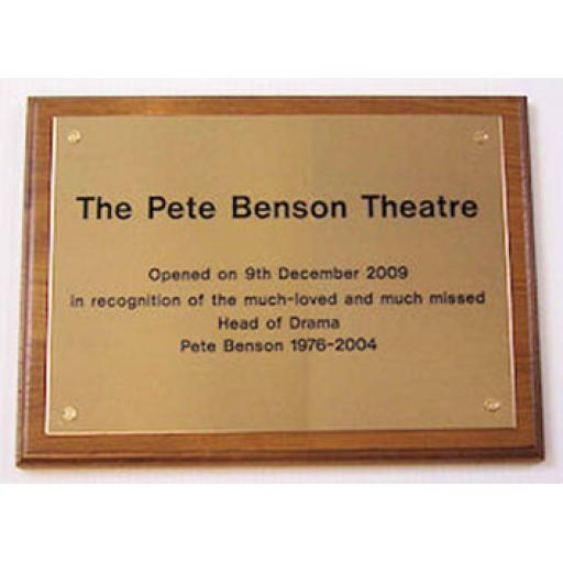 Brass plaque size A4 - code M-BPA4T