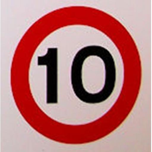 Class 1 Traffic Sign - 10mph